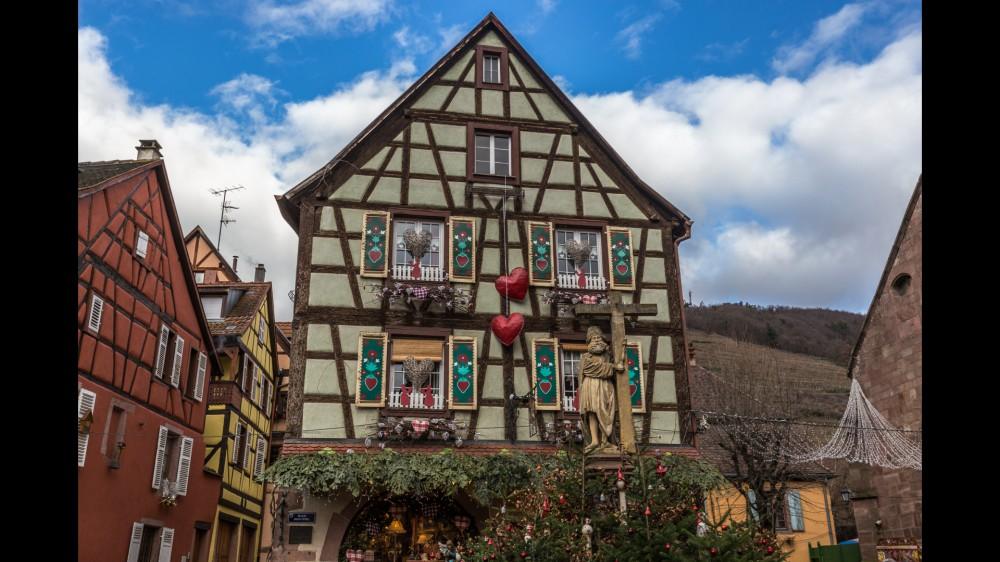 Maison décorée à Kaysersberg